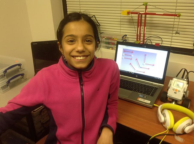 Nidhi Bharadwaj. Science Mind of the Month Jan'16 Chantilly